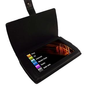 iGadgitz Black Genuine Leather Case Cover for Archos 7 Android Home Tablet 8GB Preview